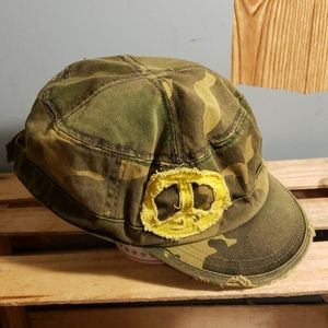 Rue21 Peace Sign~yellow Camo hat Adjustable